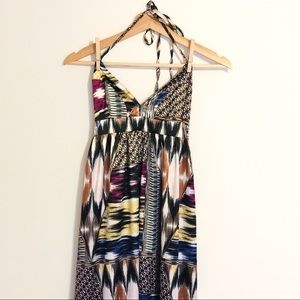 H&M patterned maxi dress (size 4)